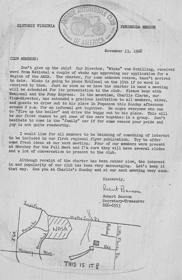 HVPR Ltr to Members 13 Nov 1968CY1